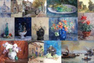home - collage werken van Herman Bogman jr in onze collectie
