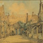 potloodtekening St. Janskapel Haarlem van Herman Heuff