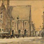 potloodtekening De Waag Alkmaar van Herman Heuff