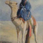 De Bedoeïene, olieverf rond 1968,uit zijn serie vreemde volkeren, met onder meer de Rus, De Armeniër, De man uit India. Info op aanvraag.