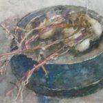 aquarel kwartels van Rudolf de Bruyn Ouboter