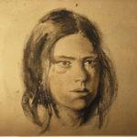 tekening van meisjesgezicht. van Rudolf de Bruyn Ouboter