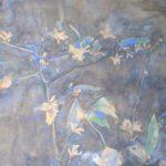 aquarel van takken met bloesen van Rudolf de Bruyn Ouboter