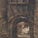 Pastel tekening van Hellepoort Maastricht van Berend Bongers.