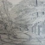 Pentekening bosgezicht Epe door Jan van Straaten.